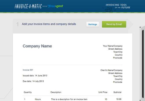 InvoiceOMatic Free Online Invoice Tool - Free online invoice program