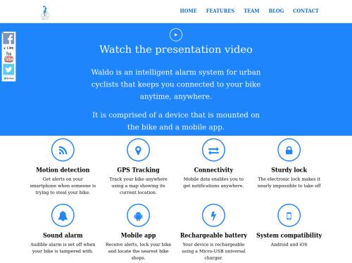 http://www.waldo.bike startup