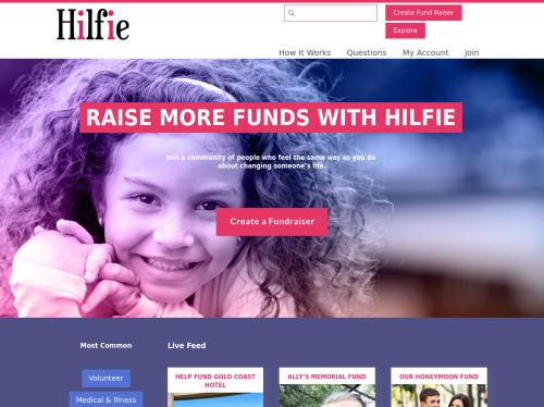 http://www.hilfie.com startup