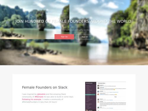 http://hashtagfemalefounders.com/ startup