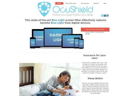 http://www.ocushield.com startup
