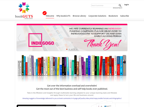 http://www.bookguts.com startup
