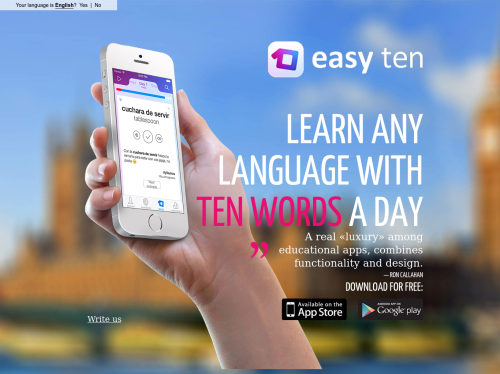 Easy Ten: Learn any language with 10 words a day