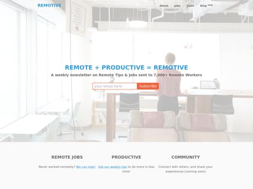 http://remotive.io startup