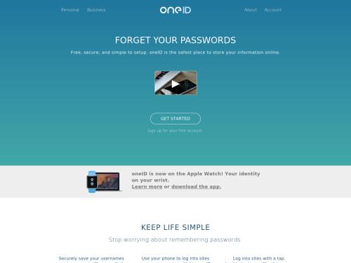 https://www.oneid.com/ startup