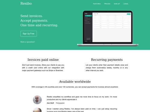 https://www.resiboapp.com startup