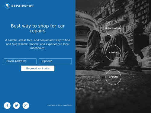 http://repairshift.com startup