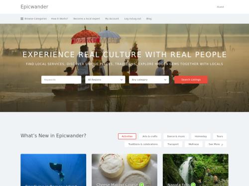 http://epicwander.com startup
