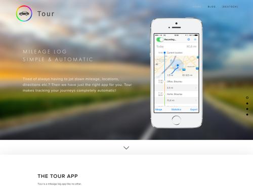 tour mileage log simple automatic
