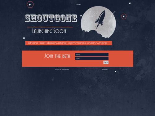 http://www.shoutgone.com/ startup