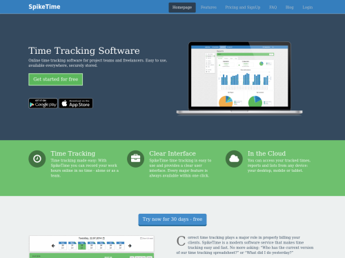 SpikeTime: SpikeTime is an easy to use time tracking app for