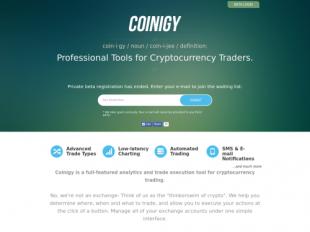 https://www.coinigy.com/ startup