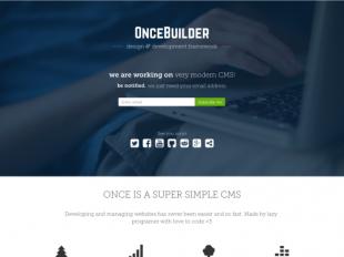 http://oncebuilder.com startup