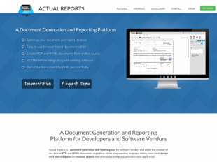 http://actualreports.com/document-generation-and-reporting startup